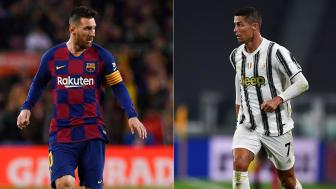 Superstjernene Lionel Messi og Cristiano Ronaldo skal gjøre opp om gruppeseieren tirsdag kveld. FOTO: Ritzau Scanpix