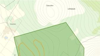 Lofsdalen Fjällpark MTB - karta
