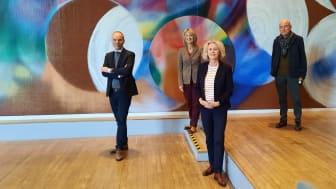 Vorgänger*innen und Nachfolger*innen - von links: Peter Gorschlüter, Leane Schäfer, Regina Selter, Dr. Hans Günter Golinski