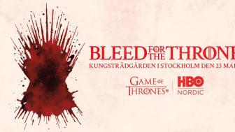 Bleed #forthethrone i Kungsträdgården