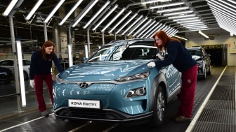 KONA electric skal fra mars 2020 også produseres i Europa. Foto: Hyundai