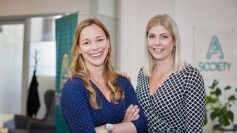Initiativtagarna till A Societys värderingsresa (från vänster): Sofie Magnoy, Marknadschef och Ann Kryhl, HR-chef