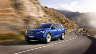 ID.4 er Volkswagens første 100 % elektriske SUV og har en rækkevidde på mod cirka 520 km.