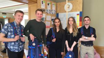 Isak, Albin, Emma, Mina och Renato gjorde ett strålande arbete för minskat brödsvinn i hushållen