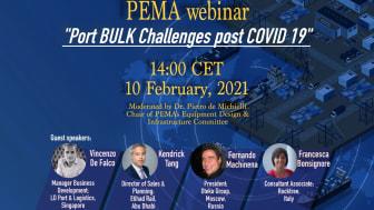 PEMA to host webinar examining ports' bulk handling challenges post Covid-19