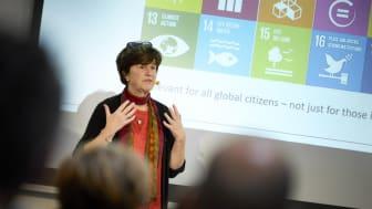 Professor ved KU og medlem af Klimarådet Katherine Richardson, fortæller om teknologiens rolle i indfrielsen af FN's verdensmål