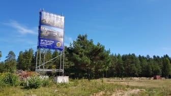 Markområdet där HSB brf Tallkotten kommer att byggas