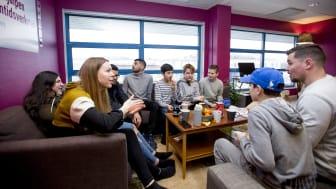 I Erikshjälpen Framtidsverkstad arbetar Erikshjälpen för jämlika uppväxtvillkor för barn och unga i Sverige. Foto: Åsa Dahlgren