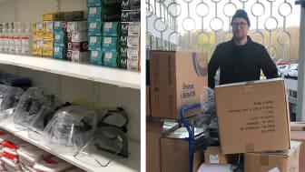 Paulig donerar skyddsutrustning till vården