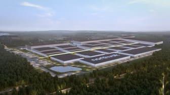 Den framtida battericellsfabriken Northvolt Ett i Skellefteå.