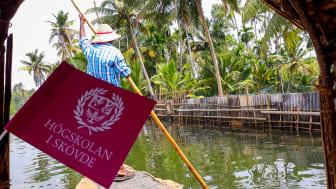 Högskolan har hittat flytet i processen för utlandsstudier.