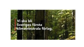 Natur & Kultur blir Sveriges första klimatneutrala bokförlag