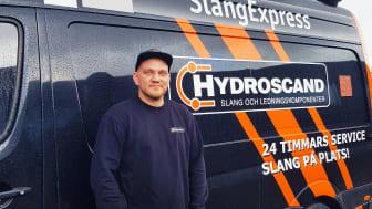 Johan Olofsson, en av Hydroscands servicetekniker i Göteborg.