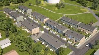 Översiktsillustration av det nya området BoKlok Botildenborg i Malmö.