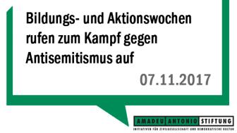 Bildungs- und Aktionswochen rufen zum Kampf gegen Antisemitismus auf