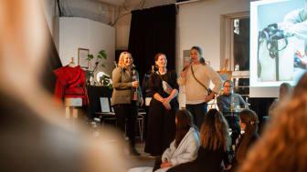 Åpning av Bestis. Fra venstre: Yngvill Ofstad, Bergans, Rakel Benjaminsen, Esmod og Jenny Skavlan, Tise. Foto: Anna Torst Saatvedt, Bergans