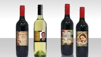 Personalised wine label for birthday gift