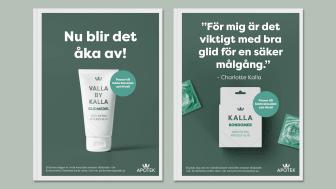 Charlotte Kalla och Kronans Apotek lanserar kondomen Bättre glid