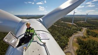 Fra Stamåsen vindpark i Sverige