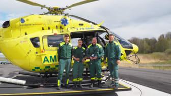 Besättningen på stadens två helikoptrar flyger 12-timmarsskift och hanterar nu fler utryckningar än någonsin med högre patientomsättning på grund av den svåra covid-19-utmaningen.