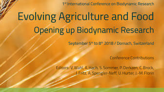 Cover Documentation Biodynamic Research Conference 2018 (with a photo by Charlotte Fischer)