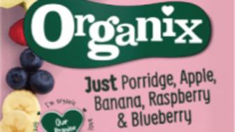 Organix just porrige apple banana raspberry blueberry