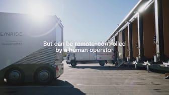 Nu är den förarlösa lastbilen ute på allmän väg (lång version)