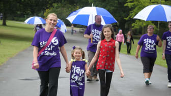 Survivors take a Step Out for Stroke in Crewe