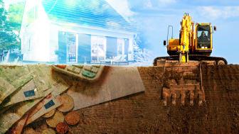 Die Kosten des Bodenaushubs werden von Bauherren bei der Baufinanzierung gern vergessen.