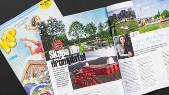 """Tävlingen """"Skapa din drömplats"""" i KP:s juninummer är ett samarbete mellan Liljewall och Kamratposten."""