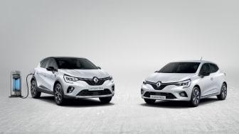 Nya Renault CAPTUR E-TECH Plug-in och Nya Renault CLIO E-TECH Hybrid
