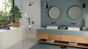 Silestone Sunlit Days Cala Blue_Bathroom