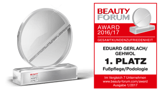 BEAUTY FORUM AWARD 2016/17: GEHWOL Nummer 1