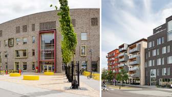 Hylllievångskolan belönas med Stadsbyggnadspriset och miljöbyggpriset Gröna Lansen går till fastigheten Klyvaren 3. Foto: Bojana Lukac, Malmö stadsbyggnadskontor