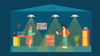 Visible Light Communications uses common household LED light bulbs to enable data transfer