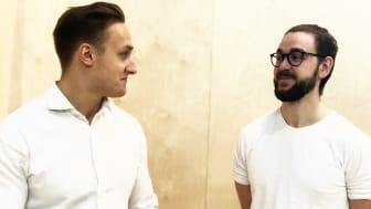 GuineaPig skapar morgondagens digitala hälsoplattform. På bild: grundarna Anton Bolmstedt Svanqvist och Elias Svensson. Foto: Chalmers Ventures