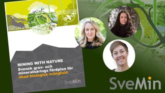 Färdplan Mining with Nature ingår i Svemins hållbarhetssatsning #mineralbidraget och lanseras i samband med Svemins Höstmöte den 17 november. Presentation av Mining with Nature ca kl 14:35.