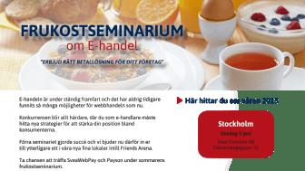 Frukostseminarium med Payson och SveaWebPay