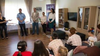 Evenimentul de inaugurare al casei de tip familial din Bistrița