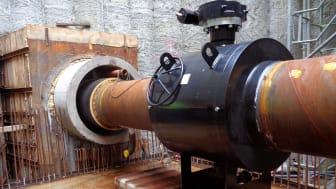 Installation av avstängningsventil VM4750.