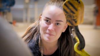 Hanna Magnusson har gått från ett jobb som drifttekniker på Vakins återvinningscentral i Vindeln till produktionstekniker inom VA