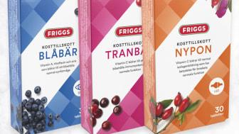 Nyhet i dagligvaruhandeln - Kosttillskott med Nypon, Blåbär & Tranbär