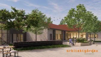Pressinbjudan: Första spadtaget för ny- och ombyggnad av särskilda boendet Skogsbrynet i Sibbhult
