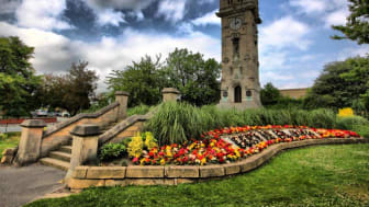 Whitehead clock tower, the front cover of last year's Bury calendar, taken by Brian Connor.