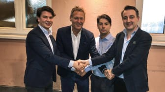 Martin Jacobsson, Mikael Karlsson, Elias Georgiadis och Tomas Georgiadis