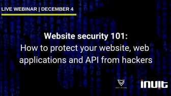 Website security 101 webinar