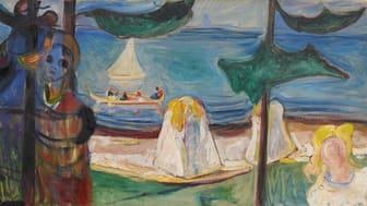 """Edvard  Munchs verk PE.M.00408 """"Omfavnelse på stranden"""" 1904 går under hammeren på Sothebys auksjon 25.mars. Foto @Munchmuseet"""