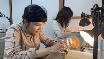 Experience designing and making their own Edo Kiriko at Sokichi