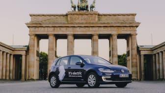Med 1 500 e-Golf erbjuder Volkswagen Berlinborna en helt eldriven bilpoolslösning.