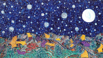 """Never Alone!"" An impressionist painting depicting the beauty of nature and the cosmos."